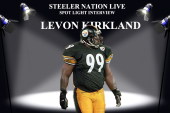 STEELER GREAT LEVON KIRKLAND STOPS BY SNL STUDIO!!!