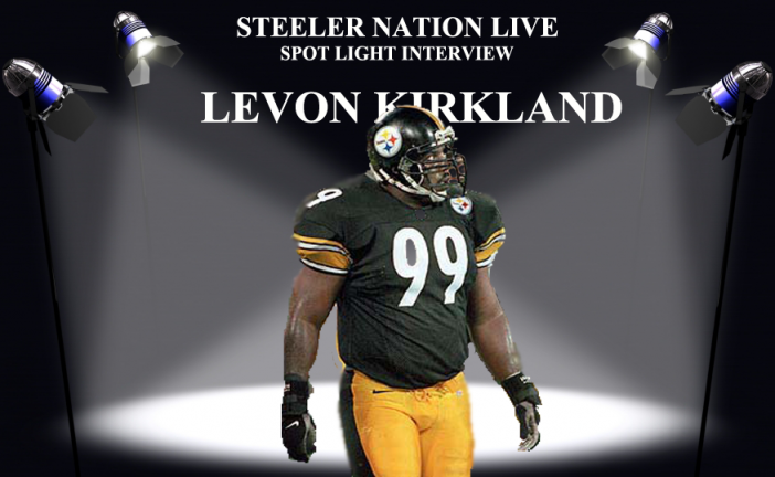 STEELER GREAT LEVON KIRKLAND STOPS BY SNL STUDIO!!!