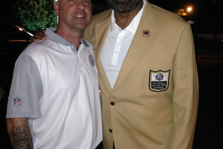 GUESS WHO ELSE SHOWED UP AT THE BUS AFTER PARTY? HOF BACK FRANCO HARRIS.