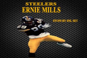 STEELERS GREAT ERNIE MILLS STOPS BY SNL STUDIO
