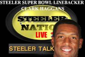 STEELERS SUPER BOWL WINNING LB CLARK HAGGANS STOPS BY SNL1933 STUDIOS