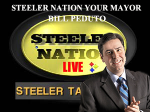 PITTSBURGH MAYOR BILL PEDUTO STOPS BY SNL1933 SET TALKS PITTSBURGH AND FOOTBALL