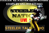 STEELERS RB WALTER ABERCROMBIE STOPS BY THE SNL1933 SET
