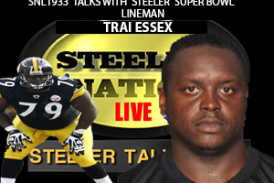 FORMER STEELER GUARD TRAI ESSEX STOPS BY SNL1933