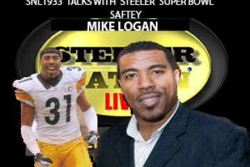 STEELER SUPERBOWL CHAMPION SAFETY MIKE LOGAN STOPS BY SNL1933 SET