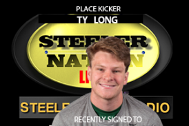 Check Steelers recent addition reserve/future contract Ty Lon g stops by SNL1933
