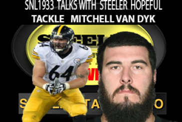 Steeler Hopeful(currently Practice Squad) Mitchell Van Dyk