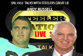 STEELER GREAT LB ANDY RUSSELL STOPS BY @SNL1933 SET.