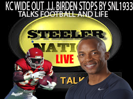 KC GREAT WIDE OUT J.J. BIRDEN STOPS BY SNL1933 STUDIO'S