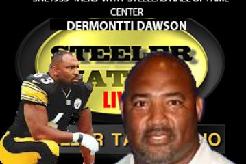 HALL OF FAMER STEELER CENTER DERMONTTI DAWSON STOPS BY SNL1933 STUDIOS